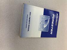 2001 Subaru Forester Operators Owner Owners Manual OEM Factory