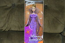 NEW 2001 BARBIE DOLL HALLOWEEN PRINCESS SPIDER WEB DRESS WITH RING