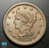 1853 Braided Hair Large Cent --  MAKE US AN OFFER!  #P6870