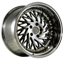 Aodhan DS03 18x9.5 +15 18x10.5 +22 5x114.3 Black Vacuum Staggered (Set of 4)