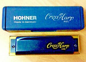 New HOHNER Cross Harp MS Harmonica Diatonic D maj 10 hole Vamper+case⭐️⭐️⭐️⭐️⭐️