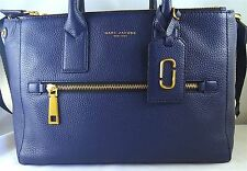 MARC JACOBS GOTHAM CITI MIDNIGHT BLUE PEBBLED LEATHER TOTE