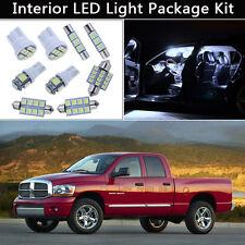 7PCS Xenon White LED Interior Car Map Lights Package kit Fit 2002-2008 Dodge RAM
