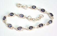 Faceted Iolite Gemstone Bracelet Sterling Silver Jewellery