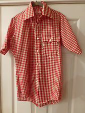 MENS LEVI RED & WHITE CHECK COUNTRY WESTERN LOOK SMALL SS NWOT