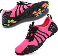 Mens Womens Aqua Beach Water Shoes Quick Dry Barefoot, Fushia, Size 8.0