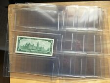 Package of 7 Unitrade  3 POCKET PAGE FOR  BANK NOTE INCLUDING HOLDERS