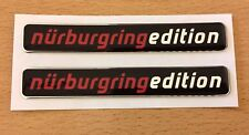 2 x Nurburgring Edition Stickers/Decals 91mm HIGH GLOSS DOMED GEL - JakeDesigns