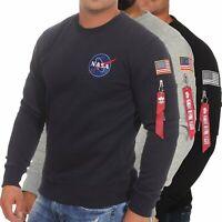 Alpha Industries Herren Pullover Sweatshirt Sweater Pulli Space Shuttle 178307
