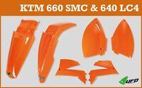 KTM LC4 640 2004 - 2007 UFO Motocross Plastic Kit with Tail Stop Light Orange