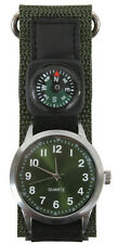military style watch with compass olive nylon strap rothco 4340