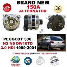 FOR PEUGEOT 306 N3 N5 DW10TD 2.0 HDi 1999-2001 BRAND NEW BOXED 150A ALTERNATOR
