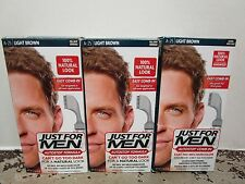 3 JUST FOR MEN AUTOSTOP EASY COMB-IN FORMULA HAIRCOLOR  LIGHT BROWN A-25 MM 9131
