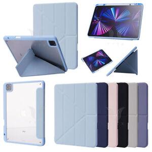 For iPad 7/8/9th mini 6 Pro 11 Origami Leather Case Smart Cover w/Pencil Holder