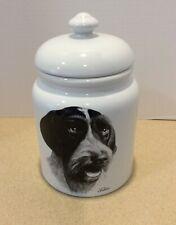 German Wirehaired Pointer Tzenov Best Of Show Dog Biscuit Cookie Jar Rosalinde