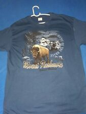 Mount Rushmore Land Of The Free Because Of The Brave T shirt Blue XL