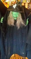 Gemmy 3' ft Hanging Shaking talking  Poseable Witch Halloween Haunted House Prop