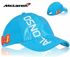 CAP Hat Formula One 1 McLaren Honda F1 NEW! 2015 Fernando Alonso Blue Embossed