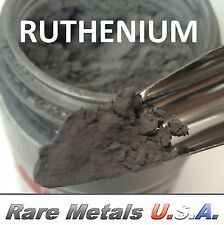 RUTHENIUM POWDER: 1.0 OUNCE 1 OZ 99.97% PURE Ru: PRECIOUS PGM | RARE METALS USA!