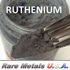 RUTHENIUM POWDER: 1.0 OUNCE 1 OZ 99.97% PURE Ru: PRECIOUS PGM | RARE METALS USA!