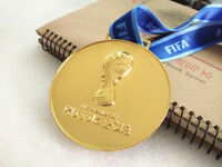 2018 Russia FIFA World cup Gold Medal with Commemorative Ribbon Collection Gift