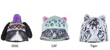 Justice Girls Critter Hats Cat, Tiger & Dog NWOT ONE SZ