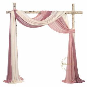 "Wedding Arch Backdrop Drapping 29""x6.5 Yards Chiffon Fabric Curtain Decor Drapes"