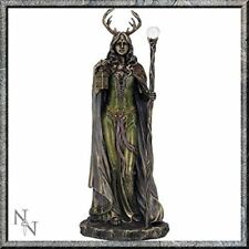 - Wiccan LADY BRONZATO Witch Statua CUSTODE DELLA FORESTA witcraft Figurina Ornamento