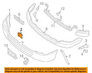 NISSAN OEM 12-18 NV3500 Front Bumper-Inner Bracket Left 622171PA0A
