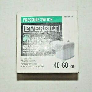 Everbilt 40/60 Pressure Switch for Well Pumps 1001 098 876