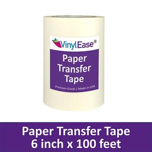 6 in x 100 ft Roll of PAPER Application Transfer Tape for Sign Craft Vinyl V0820
