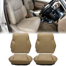 Driver Passenger Top Backbottom Leather Seat Cover Tan For 96 02 Toyota 4runner