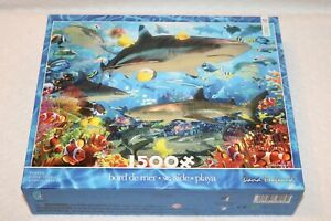 Ceaco Seaside Puzzle, Shark Fish Sea Life Coral, by David Penfound 1500 Pcs, New