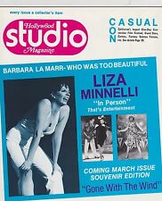FEB 1977 HOLLYWOOD STUDIO vintage movie magazine LIZA MINNELLI