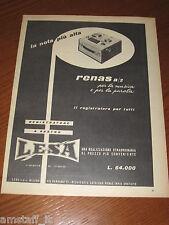 *=LESA RENAS REGISTRATORE=1961=PUBBLICITA'=ADVERTISING=WERBUNG=PUBLICITE=