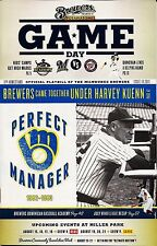 HARVEY KUENN ON COVER MILWAUKEE BREWERS 2013 OFFICIAL GAMEDAY PROGRAM ISSUE #19