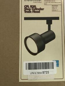 CFL R30 Step Cylinder Track Head Nuvo TH356 1-Light TH356 15W GU24 Base Black