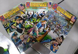 Historical Comics - Epic Battles of the Civil War - Volumes 2, 3, 4