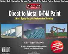 Direct to Metal DTM Paint - 2-Part Epoxy Coating, Interior/Exterior -1g, White