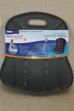 +New ObusFome Back Boost HoMedics Portable Comfort Seat Dorsal Support Grey 3814