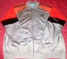 Mens ADIDAS Full Zip L/S Athletic,Leisure Wear Lightweight JACKET GRAY Sz XL