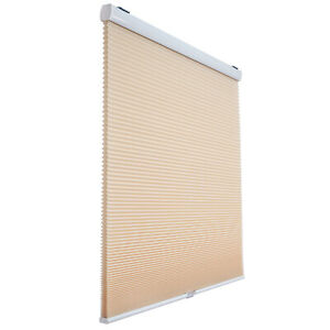 """Beige Privacy Light Filtering Cordless Cellular Shades Window Blind 32"""" W 72"""" H"""