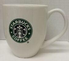 Starbucks Coffee 2007 White Green Black Mermaid Logo 14 Oz Mug Rare Collectible
