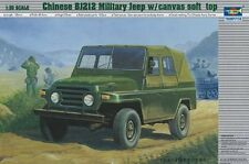 Chinese BJ212 Military Jeep w/ Canvas Soft Top 1:35 Plastic Model Kit TRUMPETER