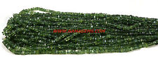 Green Apatite Smooth Heishi Gemstone Cube Square Loose Beads Strand 4-6 mm 8""