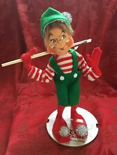 NEW FLAWLESS Exceptional ANNALEE Silver Sparkle PAINTER ELF Christmas Figurine