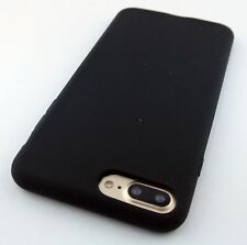 FULL BLACK SKIN SOFT SILICONE RUBBER GEL CASE COVER FOR APPLE IPHONE 7 PLUS