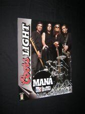 Original 2002 Mana Us Tour Coors Light Beer Promo Poster