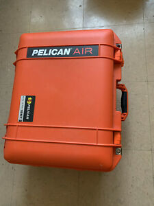 Orange Pelican1557 Air Case with foam - inside painted Y-SHIELD & CuPro-Cote