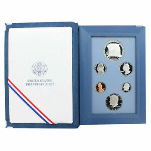 1987 S Prestige Proof Set Constitutional 90% Silver Dollar 6 US Coins